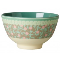 Small RICE melamine bowl mini floral print