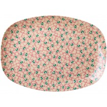 RICE Melamine Plate with Liquid Spots