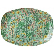 RICE Melamine Plate with Lupins