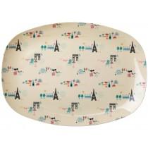 RICE Melamine Plate Paris