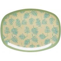 RICE melamine plate palm leaves