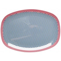 RICE melamine plate sailor stripes