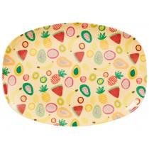 RICE melamine plate tutti frutti print