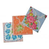 RICE paper napkins vintage print