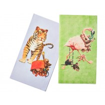 RICE paper lunch napkins tiger flamingo