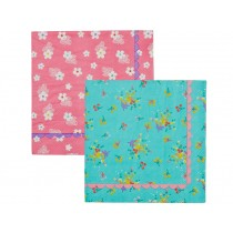 RICE cocktail napkins with flower print