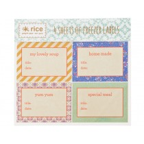 RICE stickers for freezer labelling