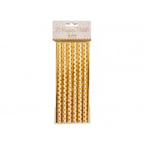 RICE 25 Paper Straws gold