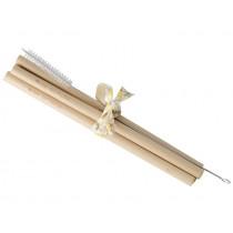 RICE 4 Bamboo Straws