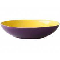 Ceramic soup plate in yellow-purple by RICE Denmark