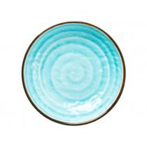 RICE Melamine Bowl with Swirl AQUA