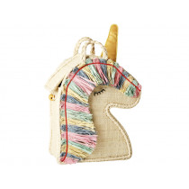 RICE kids raffia bag UNICORN