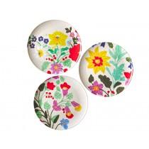 RICE dinner plates flowers