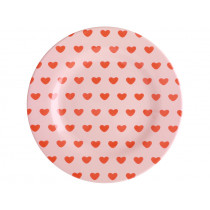 RICE Melamine Side Plate SWEET HEARTS