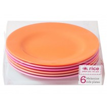 RICE side plates in pink and orange colours