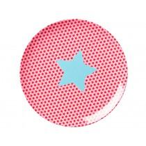 RICE girls melamine plate stars