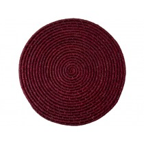 RICE Raffia Coaster Bordeaux