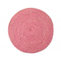 RICE Raffia Coaster Soft Pink