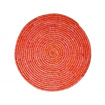 RICE Raffia Coaster RED