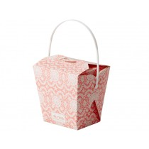 RICE Chinese To Go food box lace print