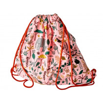 RICE Drawstring Bag JUNGLE PINK
