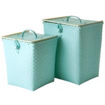 RICE laundry basket mint