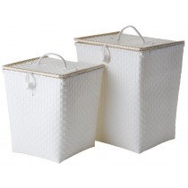 RICE laundry basket white