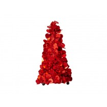 RICE sequin tree small red
