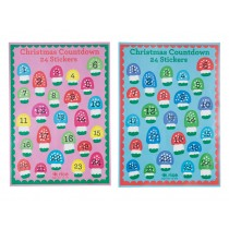 Christmas count down stickers by RICE Denmark