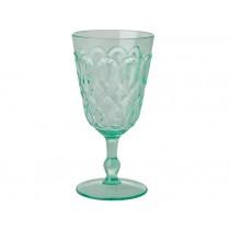 RICE Wine Glass in Swirly Embossed Acrylic Pastel Green
