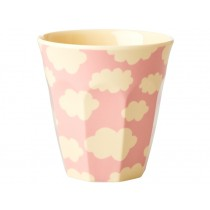 RICE Kids Melamine Cup CLOUDS pink