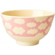 Small RICE Melamine Bowl CLOUDS pink