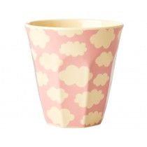 RICE Melamine Cup CLOUDS pink