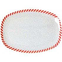 RICE Melamine Rectangular Plate SNOW