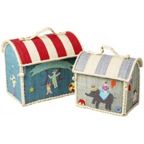 RICE Kids Raffia Bag CIRCUS