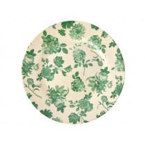 RICE Melamine Side Plate GREEN ROSES