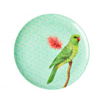 RICE Melamine Dinner Plate VINTAGE BIRD mint