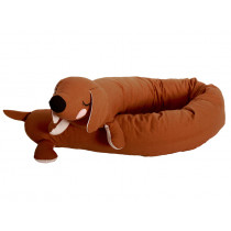 Roommate Soft Toy LAZY LONG DOG brown
