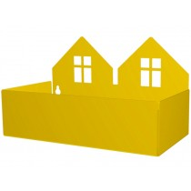 Roommate box shelf TWIN HOUSE yellow