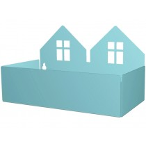 Roommate box shelf TWIN HOUSE pastel blue