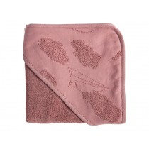 Sebra Hooded Towel In the Sky vintage rose