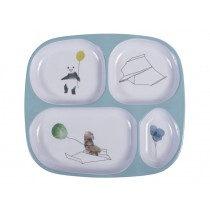 Sebra Melamine Plate 4 Rooms In the Sky cloud blue