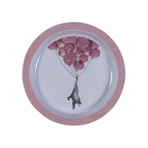 Sebra Melamine Plate In the Sky vintage rose