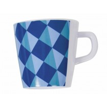 Melamine cup with blue pattern by Sebra