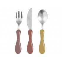 Sebra cutlery clay red