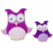 Sebra owl cushion in purple