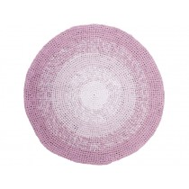 Sebra crochet floor mat gradient rose