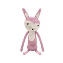 Sebra crochet rabbit vintage rose