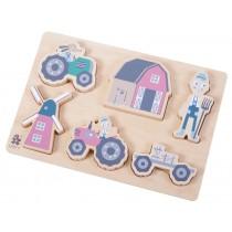 Sebra wooden chunky puzzle Farm boy