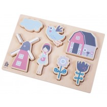 Sebra wooden chunky puzzle Farm girl